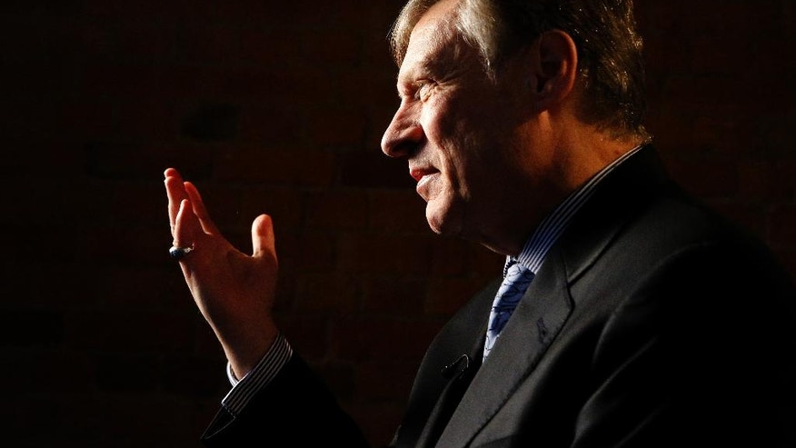 "U.S. businessman Ted Malloch, Donald Trump's potential choice as envoy to the EU, speaks to The Associated Press during an interview in London, Thursday, Feb. 9, 2017. Malloch said the bloc is anti-American and the U.S. will try to build bilateral relationships with European countries instead. Ted Malloch says the U.S. is ""critical and suspicious"" of the EU project. He says ""we would prefer, certainly in the Trump administration, to work with countries bilaterally."" (AP Photo/Frank Augstein)"