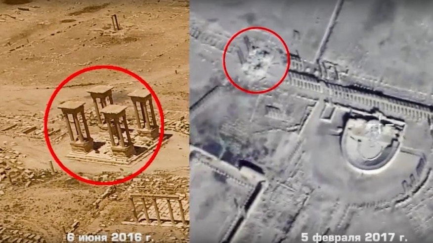 Russian drone footage shows destruction of UNESCO sites in Syria