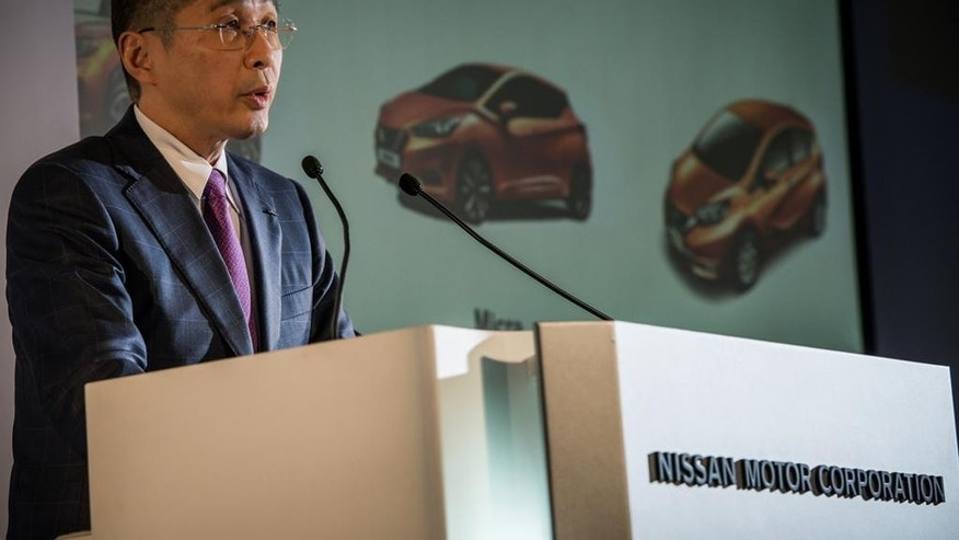 This undated photo released by Nissan Motor Co. shows Nissan Motor Co. Chief Executive Hiroto Saikawa. Carlos Ghosn, who leads Nissan and Renault, has tapped Saikawa, a veteran Japanese executive at Nissan, to replace him as chief executive at the Japanese automaker, although Ghosn will stay on as chairman. Nissan, based in Yokohama, made the announcement in a statement Thursday. The appointment, effective April 1, will be up for shareholders' approval in June. (Nissan Motor Co. via AP)