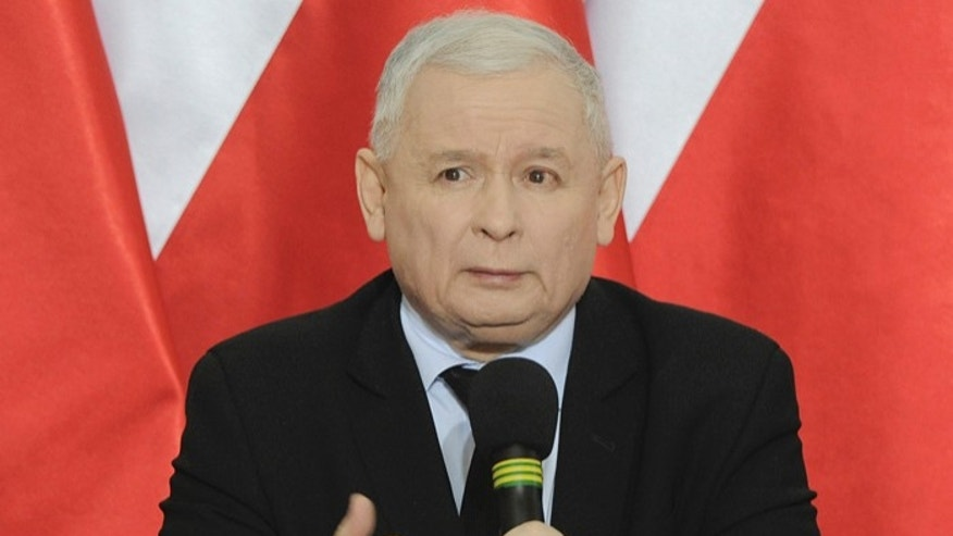 "FILE-In this  Dec. 21, 2016, file photo, Jaroslaw Kaczynski, chairman of the ruling Law and Justice party, speaks during a press conference in Warsaw,Poland. Kaczynski faced accusations on Wednesday of sing offensive and divisive language for saying that members of his ruling party are ""benevolent masters,"" contrasting them with oppositions politicians whom he described as not being ""masters"" at all. (AP Photo/Alik Keplicz, file)"