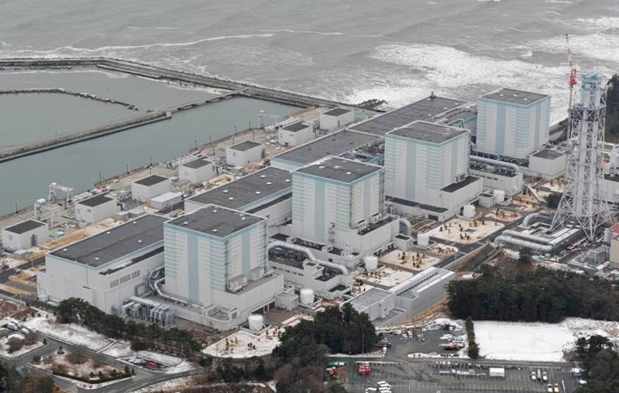 An aerial view shows Tokyo Electric Power Co.'s Fukushima Daini nuclear power plant in Naraha town, Fukushima prefecture, Japan, in this photo taken by Kyodo February 26, 2012. Picture taken February 26, 2012. Mandatory credit Kyodo   Kyodo/via REUTERSATTENTION EDITORS - THIS IMAGE WAS PROVIDED BY A THIRD PARTY. EDITORIAL USE ONLY. MANDATORY CREDIT. JAPAN OUT. NO COMMERCIAL OR EDITORIAL SALES IN JAPAN. - RTSSPT5
