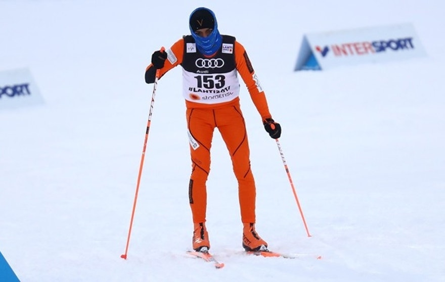 FIS Nordic Ski World Championships - Men's Cross Country - Qualification - Lahti, Finland - 23/2/17 - Adrian Solano of Venezuela competes. REUTERS/Kai Pfaffenbach - RTSZZVR
