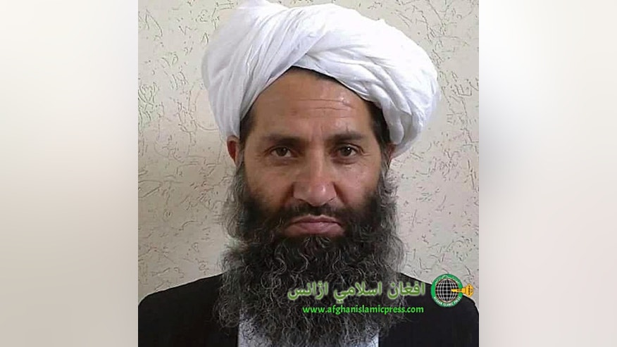 FILE - In this undated and unknown location photo, the new leader of Taliban fighters, Mullah Haibatullah Akhundzada poses for a portrait. Springtime in Afghanistan usually brings a spike in violence as the Taliban takes advantage of the thaw to launch a wave of fresh attacks. But the Taliban's leader has just issued a statement calling on Afghans to plant more trees. (Afghan Islamic Press via AP)