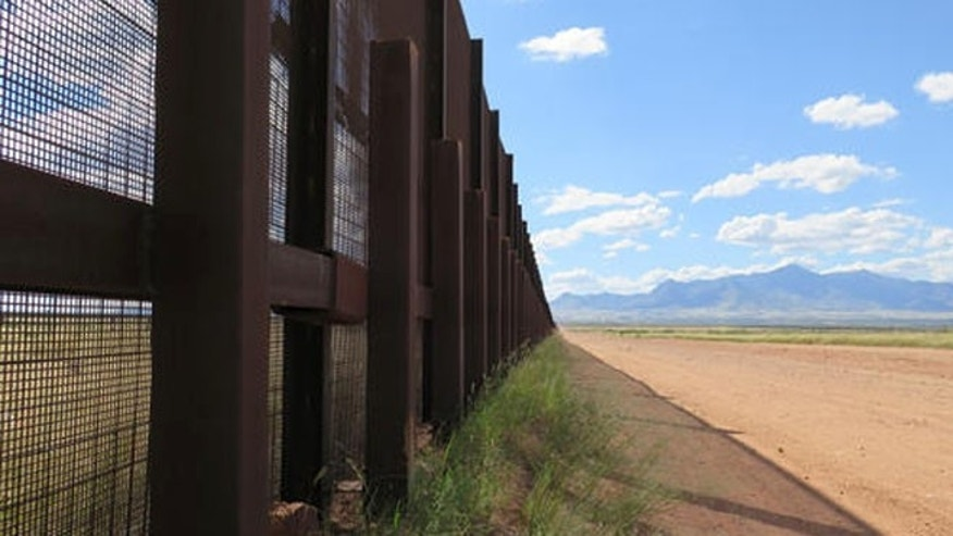 Part of the border fence near Naco, Ariz., during a tour of the border hosted by the Cochise County Sheriff's Office.