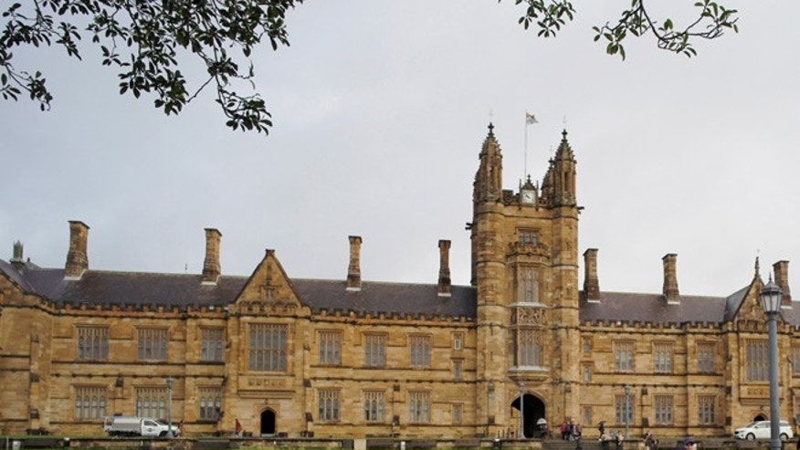 The attack unfolded in a parking garage at the University of Sydney.
