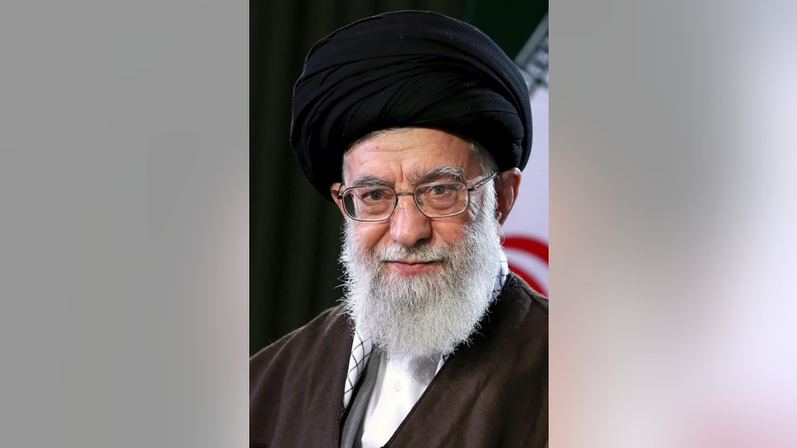 In this picture released by an official website of the office of the Iranian supreme leader on Monday, March 20, 2017, Supreme Leader Ayatollah Ali Khamenei poses for a portrait in a session to deliver his message for the Iranian New Year, Iran. Nowruz, a festival to celebrate the new Persian year starts with the spring. Iranians follow the Persian solar year, and this year, they begin the year 1396. (Office of the Iranian Supreme Leader via AP)