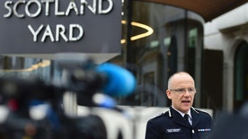 "Metropolitan Police counterterrorism chief Mark Rowley speaks to the media about the terrorist attack, outside New Scotland Yard in London, Friday March 24, 2017. London's top anti-terror officer says two more ""significant arrests"" have been made in connection with the Westminster attack, in central and northern England.  (Lauren Hurley/PA via AP)"
