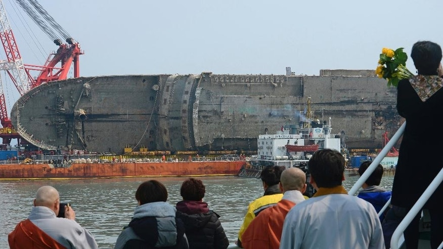 Possible human remains found after Sewol ferry raised from seabed