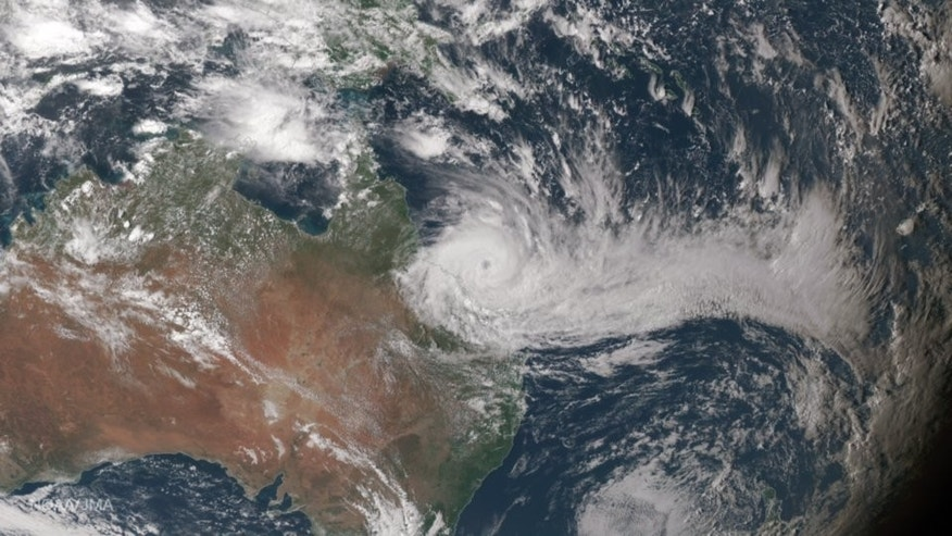 A satellite image of the storm.