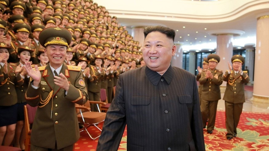 Feb. 23, 2017: North Korean leader Kim Jong Un watches a performance given with splendor at the People's Theatre on Wednesday to mark the 70th anniversary of the founding of the State Merited Chorus in this photo released by North Korea's Korean Central News Agency (KCNA) in Pyongyang.