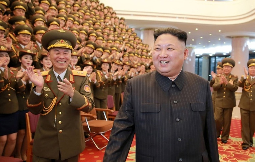 North Korean leader Kim Jong Un watches a performance given with splendor at the People's Theatre on Wednesday to mark the 70th anniversary of the founding of the State Merited Chorus in this photo released by North Korea's Korean Central News Agency (KCNA) in Pyongyang on February 23, 2017.   KCNA/via REUTERS   ATTENTION EDITORS - THIS PICTURE WAS PROVIDED BY A THIRD PARTY. REUTERS IS UNABLE TO INDEPENDENTLY VERIFY THE AUTHENTICITY, CONTENT, LOCATION OR DATE OF THIS IMAGE. FOR EDITORIAL USE ONLY. NOT FOR SALE FOR MARKETING OR ADVERTISING CAMPAIGNS. NO THIRD PARTY SALES. NOT FOR USE BY REUTERS THIRD PARTY DISTRIBUTORS. SOUTH KOREA OUT. NO COMMERCIAL OR EDITORIAL SALES IN SOUTH KOREA.      TPX IMAGES OF THE DAY - RTSZXCK