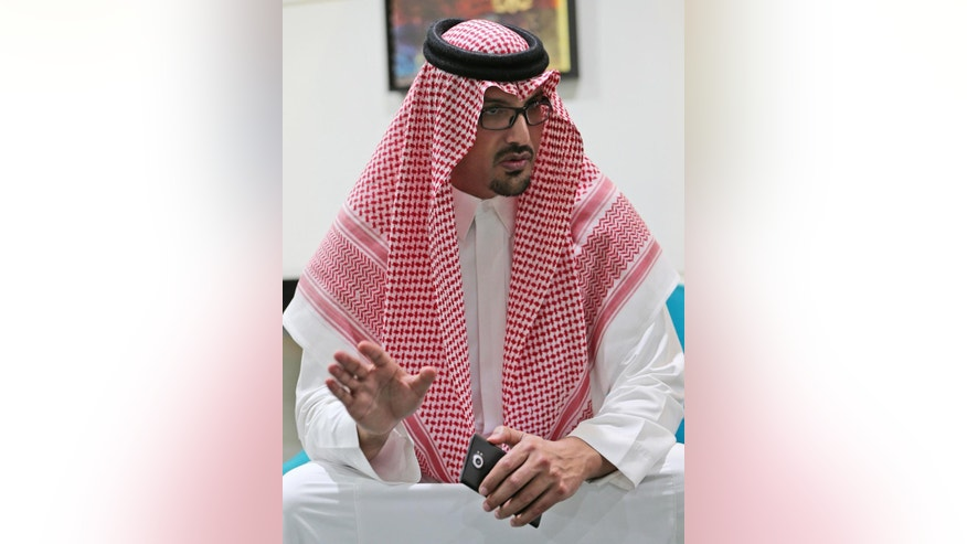 Saudi Prince Saud al-Faisal who oversees the Saudi Arabian General Investment Authority about Vision 2030 and the Saudi economy talks to the Associated Press alongside the Annual Investment Meeting in Dubai, United Arab Emirates, Monday, April 3, 2017. The Saudi prince tasked with attracting foreign investment says U.S. President Donald Trump's pro-business administration can be a good thing for the kingdom as it overhauls its economy and prepares to publicly list shares of state-owned oil giant Aramco. (AP Photo/Kamran Jebreili)