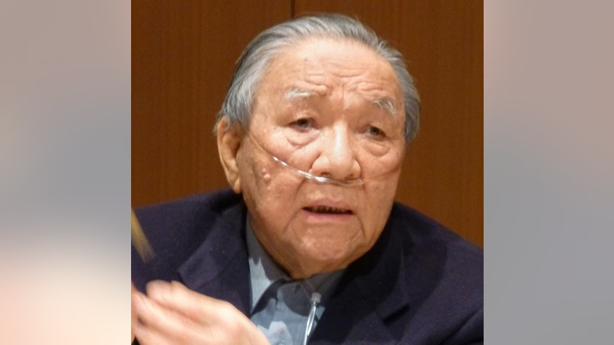 This Feb. 12, 2013 photo shows Japanese engineer Ikutaro Kakehashi.  Kakehashi, who pioneered digital music and founded synthesizer giant Roland Corp., has died, his company ATV Corp. said Monday, April 3, 2017. He was 87.  Kakehashi founded Roland in 1972, and the company's first product was the rhythm machine. Since then, Roland instruments have graced the stage of top artists from Lady Gaga to Omar Hakim. (Kyodo News via AP)