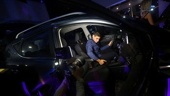 A man tests an SUV model built in Mexico for Chinese state-owned automaker JAC Motors during its presentation in Mexico City, Mexico March 28, 2017. Picture taken March 28, 2017. REUTERS/Edgard Garrido - RTX3398I