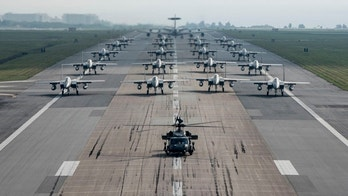Fully armed Aircraft from the 18th Wing conduct an elephant walk during a no-notice exercise April 12, 2017, at Kadena Air Base, Japan. The 18th Wing operates combat ready fleets of HH-60 Pave Hawks, F-15 Eagles, E-3 Sentries and KC-135 Stratotankers, making it the largest combat-ready wing in the U.S. Air Force. Kadena AB provides leading-edge counter air, command and control, air refueling and combat search and rescue operations, enabling theater commanders of joint and allied partners to project and enhance lethal, persistent and flexible combat power in response to adversaries. (U.S. Air Force photo by Senior Airman John Linzmeier)