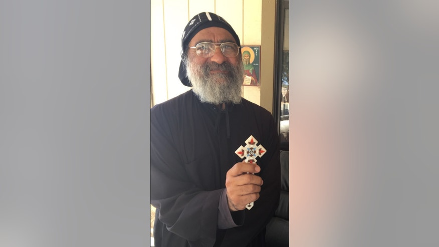 Father Mosa of the Saint Antony Eastern Orthodox Coptic Monastery, Calif.