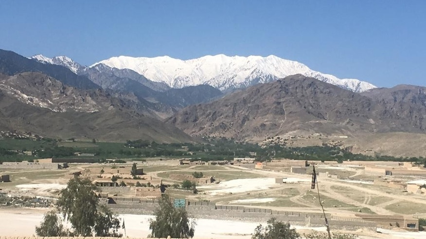 "A general view of Achin district, in Jalalabad, after U.S. forces dropped Thursday the bomb, Afghanistan, Friday, April 14, 2017.  U.S. forces in Afghanistan on Thursday struck an Islamic State tunnel complex in eastern Afghanistan with ""the mother of all bombs,"" the largest non-nuclear weapon every used in combat by the U.S. military, Pentagon officials said. (AP Photo/Rahmat Gul)"