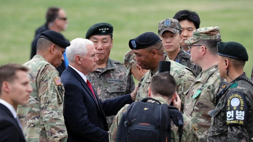 Pence visits South Korea as tensions rise over North