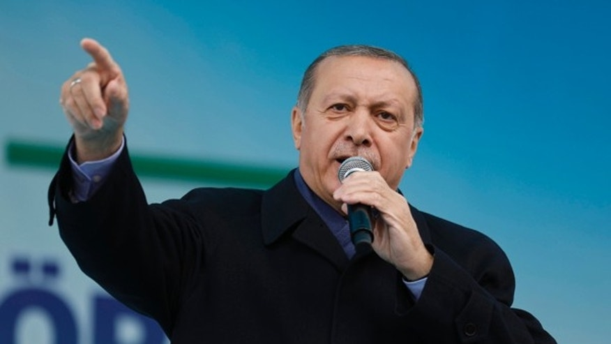 Turkish President Recep Tayyip Erdogan criticized Israel in comments in Istanbul on Monday.