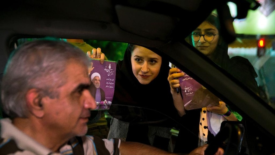 Iran's top leader urges high turnout in presidential vote
