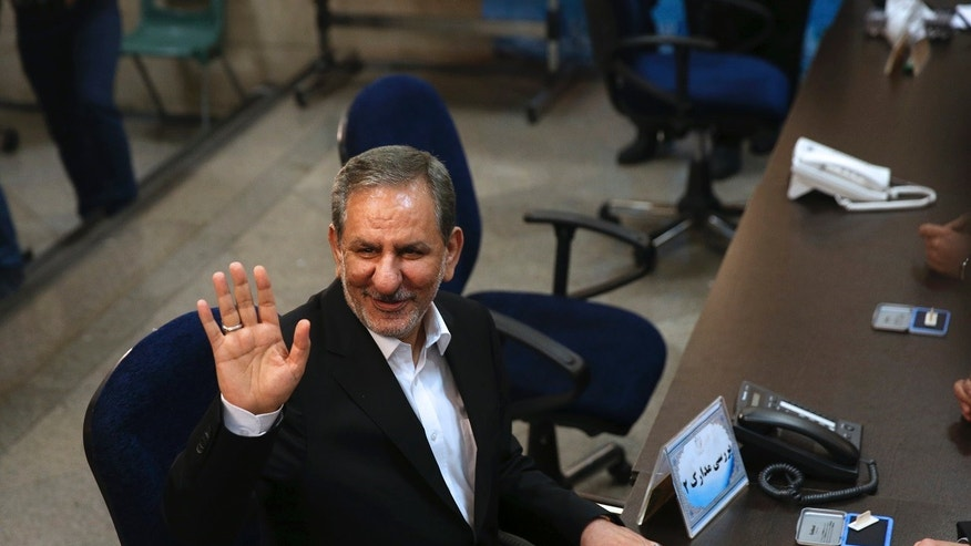 Iranian senior Vice President Eshaq Jahangiri dropped out of the country's presidential race and endorsed President Hassan Rouhani who is seeking re-election. The election is set to take place on Friday, May 19, 2017.