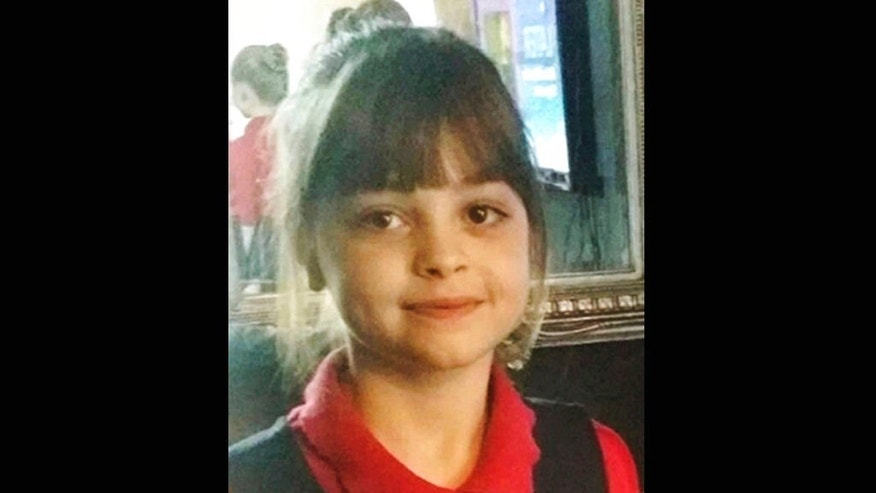 his undated photo obtained by the Press Association on Tuesday, May 23, 2017, of Saffie Roussos, one of the victims of an attack at Manchester Arena, in Manchester, England, which left more than a dozen dead on Monday. (Associated Press)