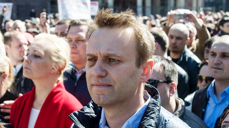 Russian opposition leader Alexei Navalny was arrested on Monday, June, 12, 2017, while on his way to the main demonstration in Moscow.