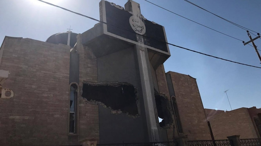 St. Ephraim Church in Mosul, used by ISIS as a prison for Yazidi sex slaves
