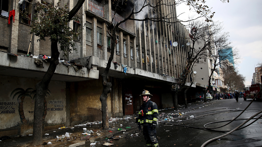 One person leaps to death in Joburg building fire