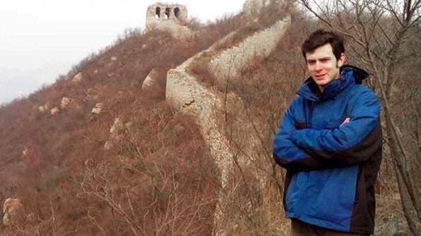 This undated photo provided by Jennifer McLean shows her son, University of Montana student Guthrie McLean, on the Great Wall of China. Guthrie was arrested Sunday, July 16, 2017, after a June 10 altercation with a taxi driver in the city of Zhengzhou, China, and accused of intentionally injuring the taxi driver. A family friend, Tom Mitchell, says Mclean was trying to protect his mother after the driver attempted to rough her up following a fare dispute. (Jennifer McLean via AP)