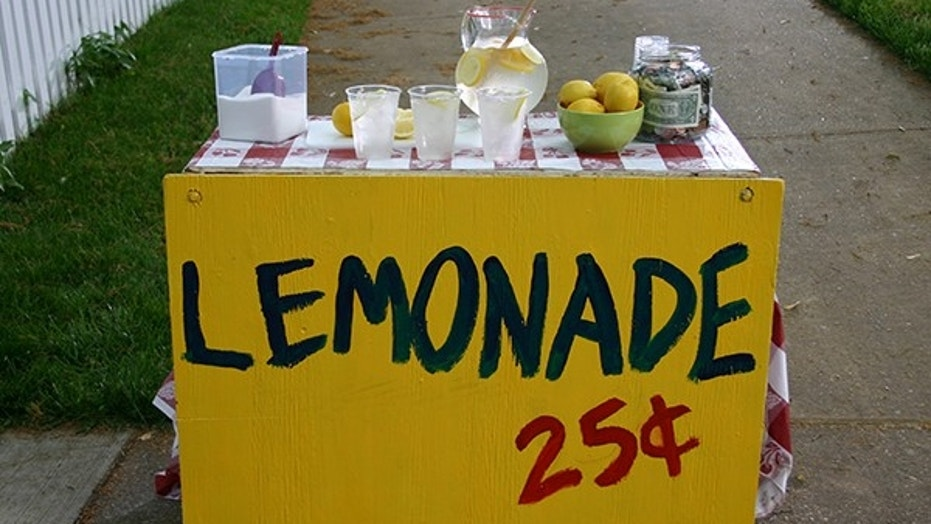 A girl, 5, was fined nearly $200 for opening a lemonade stand outside a London festival, her family said. (jkbowers)