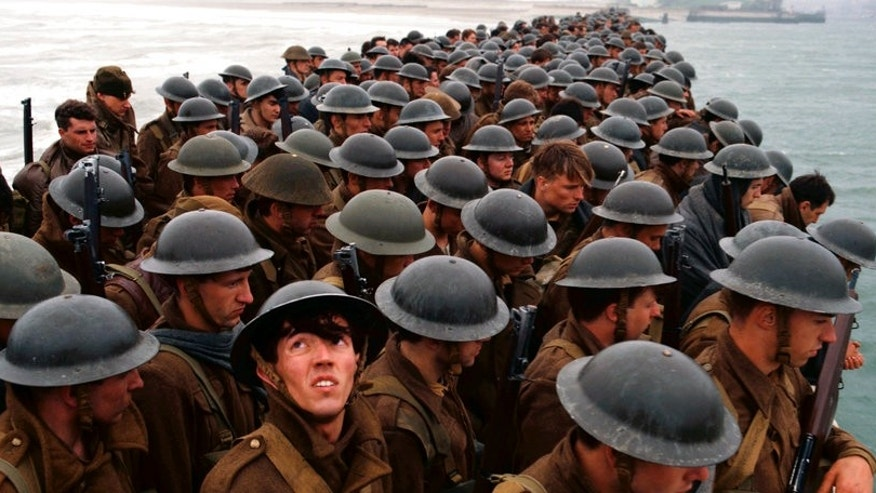 "Actors in the new movie ""Dunkirk."""