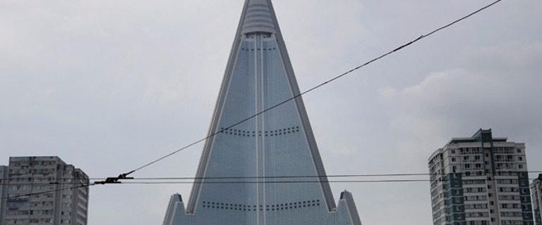 Construction appears to resume at North Korea's 105-story 'Hotel of Doom'
