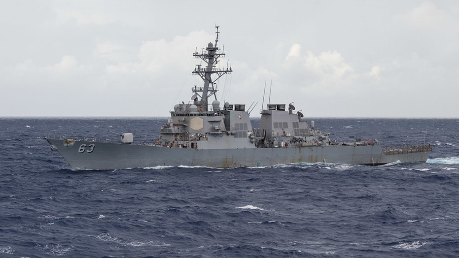 The USS Stethem is pictured in the Philippine Sea in this undated photo.