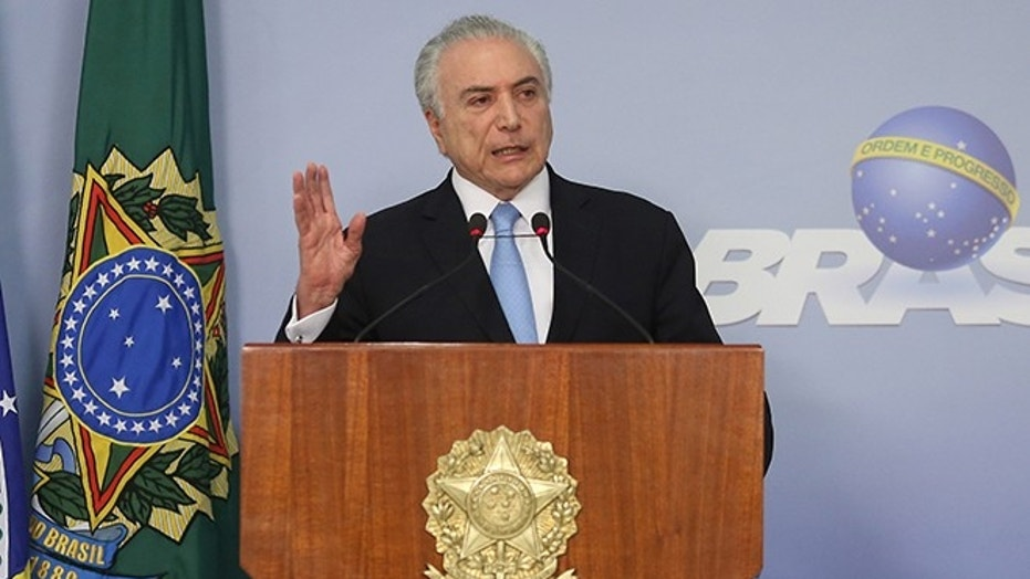Brazil's President Michel Temer delivers a speech in Brasilia, Brazil  August 2, 2017.