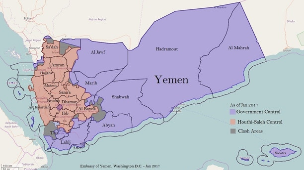 US Troops In Yemen Not Needed Nations US Ambassador Says Fox News - Us embassy in yemen map