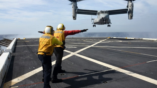 US Marine Corps helicopter crew missing off Queensland coast after 'mishap'