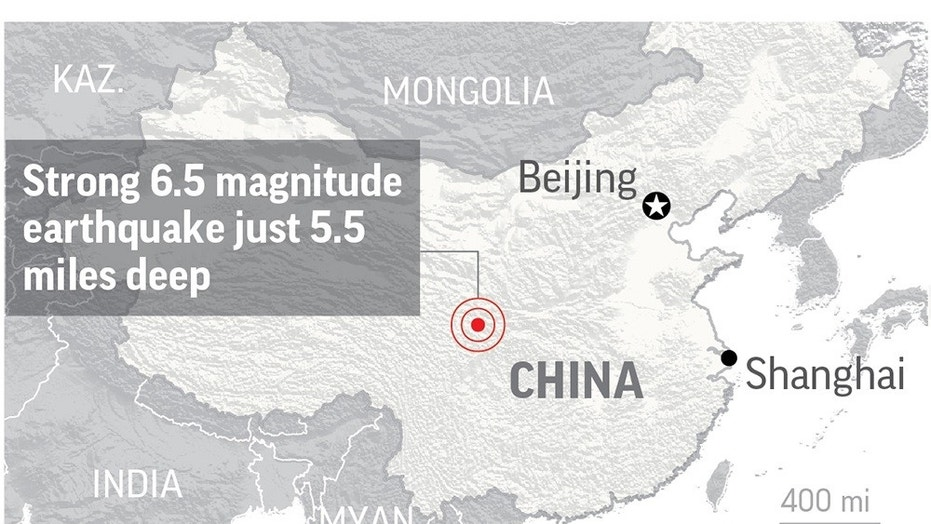 A strong earthquake struck southwestern China on Tuesday.
