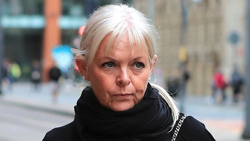 Deborah Lowe arrives at a court in Manchester.