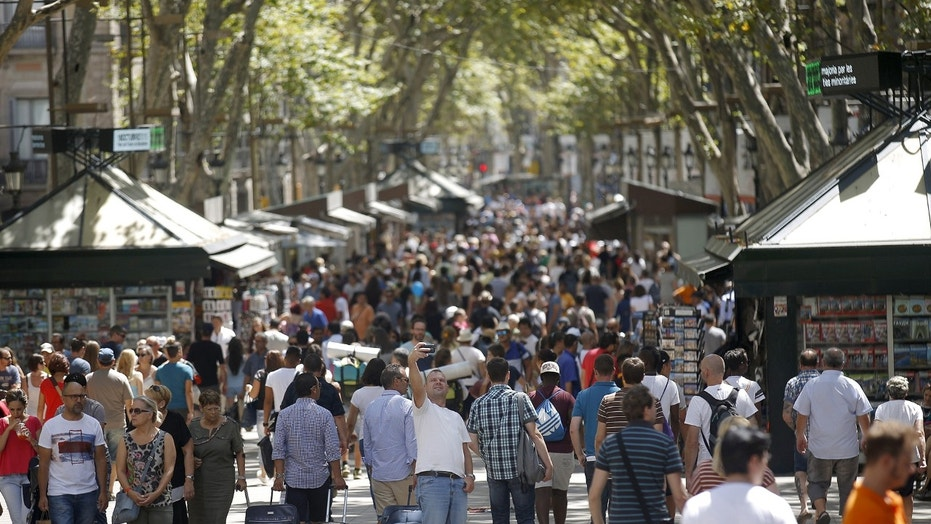 Las Ramblas is a famous main pedestrian walkway and popular tourism street in central Barcelona, Spain, where a van plowed into a crowd of people Thursday.