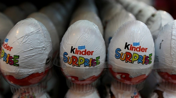 Kinder chocolate eggs are seen on display in a supermarket in Islamabad, Pakistan July 18, 2017.  REUTERS/Caren Firouz - RTX3BXBB