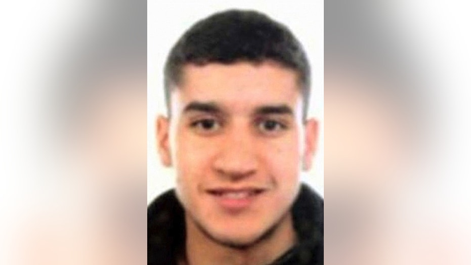 Suspected terrorist Younes Abouyaaquoub, 22, is wanted in connection with the Barcelona terror attack.