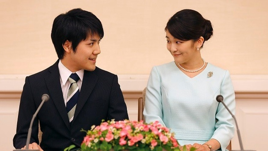 Japan's Princess Mako, right, and her fiance Kei Komuro announced they would be getting married.