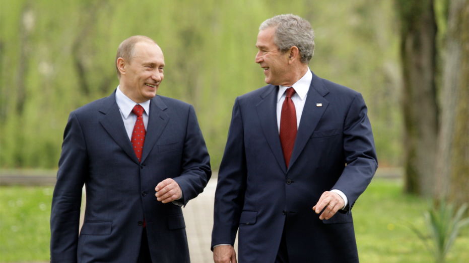 Russian President Vladimir Putin mocked former President George W. Bush in new remarks on Tuesday.