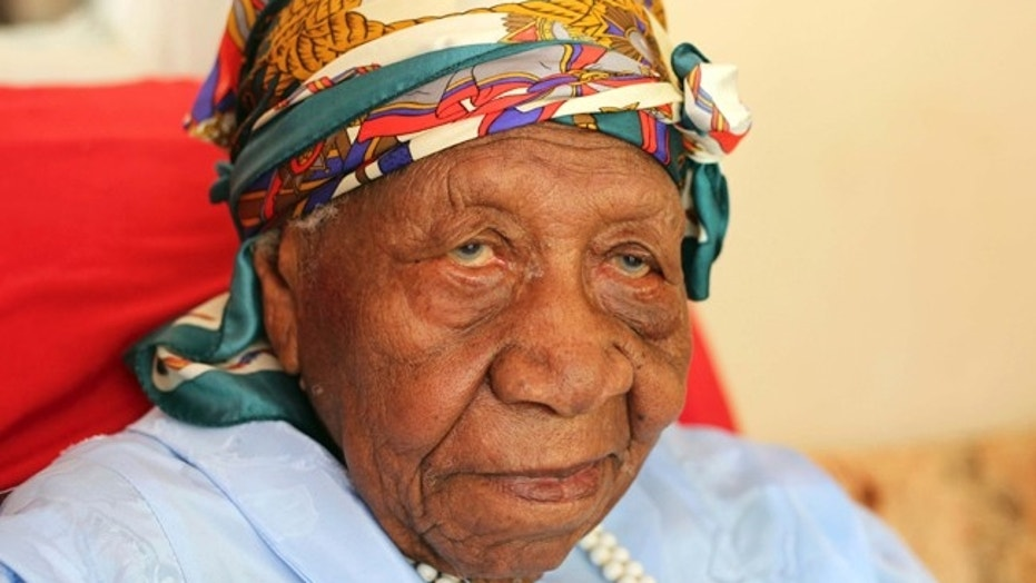 The world's oldest person Violet Brown poses for a photo at her home in Jamaica in this file photo. Brown has died at the age of 117 and 189 days old.