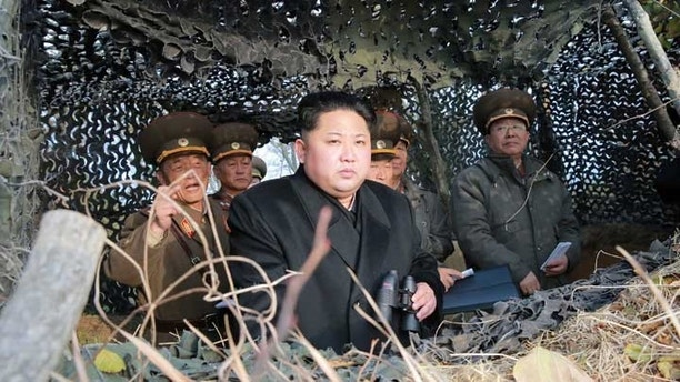 North Korean leader Kim Jung-un inspects Galido outpost and Jangjedo defending force located in the far south of Southwest  sea in North Korea in this undated photo released by North Korea's Korean Central News Agency (KCNA) in Pyongyang November 13, 2016. REUTERS/KCNA   ATTENTION EDITORS - THIS PICTURE WAS PROVIDED BY A THIRD PARTY. REUTERS IS UNABLE TO INDEPENDENTLY VERIFY THE AUTHENTICITY, CONTENT, LOCATION OR DATE OF THIS IMAGE. FOR EDITORIAL USE ONLY. NOT FOR SALE FOR MARKETING OR ADVERTISING CAMPAIGNS. NO THIRD PARTY SALES. NOT FOR USE BY REUTERS THIRD PARTY DISTRIBUTORS. SOUTH KOREA OUT. NO COMMERCIAL OR EDITORIAL SALES IN SOUTH KOREA. THIS PICTURE IS DISTRIBUTED EXACTLY AS RECEIVED BY REUTERS, AS A SERVICE TO CLIENTS.  - S1BEUMOSGJAA