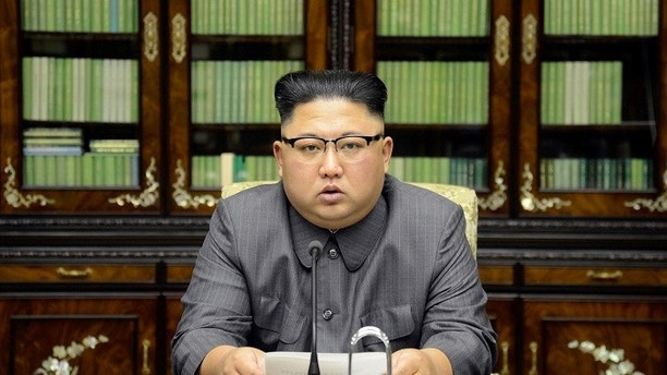 North Korea's leader Kim Jong Un makes a statement regarding U.S. President Donald Trump's speech at the U.N. general assembly, in this undated photo released by North Korea's Korean Central News Agency (KCNA) in Pyongyang September 22, 2017. KCNA via REUTERS ATTENTION EDITORS - THIS PICTURE WAS PROVIDED BY A THIRD PARTY. REUTERS IS UNABLE TO INDEPENDENTLY VERIFY THIS IMAGE. NO THIRD PARTY SALES. SOUTH KOREA OUT. TPX IMAGES OF THE DAY - RC1A8D600950