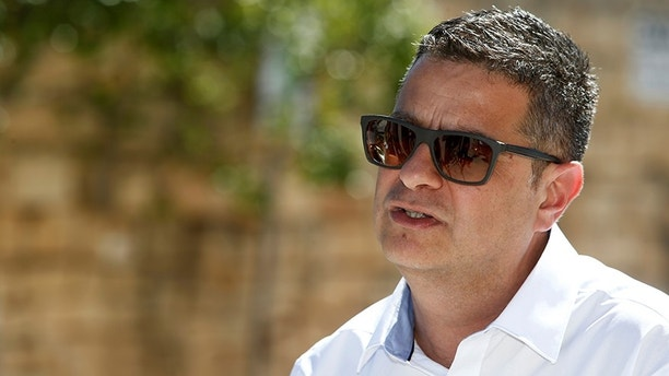 Adrian Delia, a candidate for leader of the opposition Nationalist Party, addresses a news conference in Mosta, Malta, September 6, 2017. Picture taken September 6, 2017.  REUTERS/Darrin Zammit Lupi - RC1F489EF040