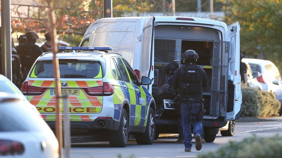 "A police department in central England says a reported hostage-taking incident at a bowling alley is ""unconnected to any terrorist activity."""