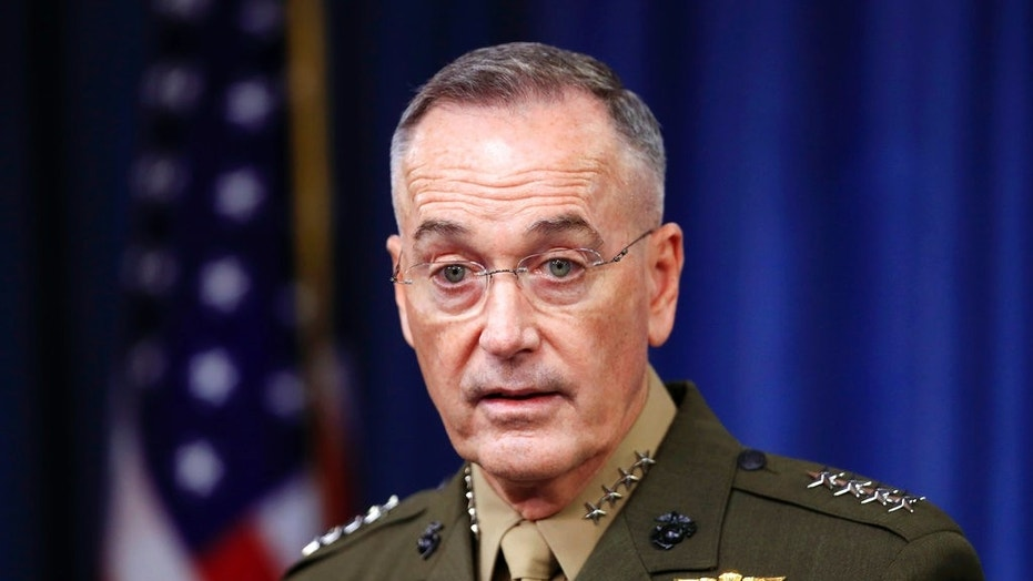 Gen. Joseph Dunford, chairman of the Joint Chiefs of Staff, speaks to reporters about the Niger operation at the Pentagon, Oct. 23, 2017.